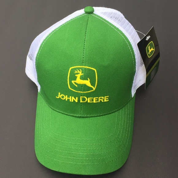 GREEN HAT//CAP W//EMBROIDERED TRACTOR-VELCRO ADJUSTABLE-ADULT   NEW!!